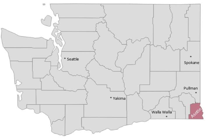 Asotin County in Washington State